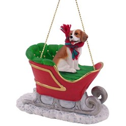 Beagle Sleigh Christmas Ornament