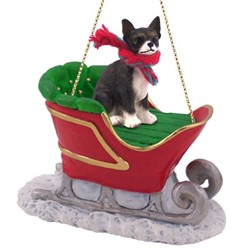 Chihuahua Sleigh Christmas Ornament