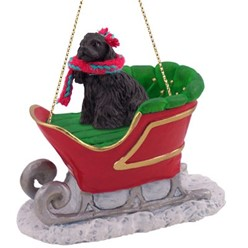 Cocker Spaniel Sleigh Christmas Ornament