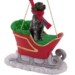 German Shorthaired Pointer Sleigh Christmas Ornament