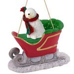 Komondor Sleigh Christmas Ornament
