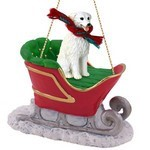 Kuvasz Sleigh Christmas Ornament