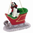 Springer Spaniel Sleigh Christmas Ornament