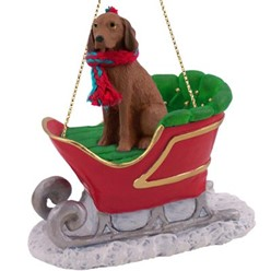 Vizsla Sleigh Christmas Ornament