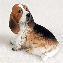 Basset Hound Tiny One Dog Figurine