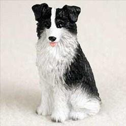 Border Collie Tiny One Dog Figurine