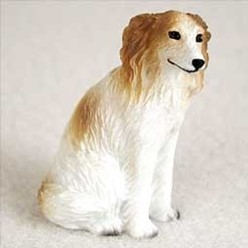 Borzoi Tiny One Dog Figurines
