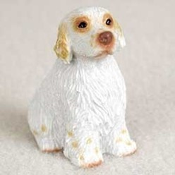 Clumber Spaniel Tiny One Dog Figurine