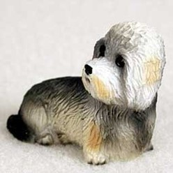 Dandie Dinmont Tiny One Dog Figurine
