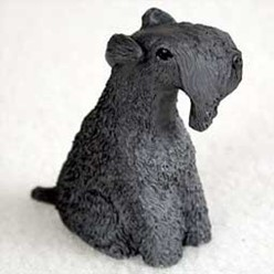Kerry Blue Terrier Tiny One Dog Figurine
