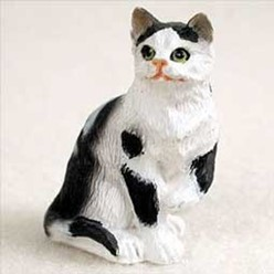 Black and White Cat Tiny One Figurine