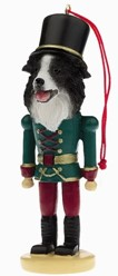 Border Collie Nutcracker Dog Christmas Ornament