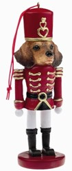 Dachshund Red Nutcracker Dog Christmas Ornament