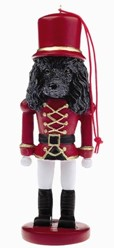 Poodle Black Nutcracker Dog Christmas Ornament