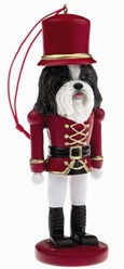 Shih Tzu Black Nutcracker Dog Christmas Ornament