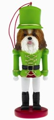 Shih Tzu Brown Nutcracker Dog Christmas Ornament