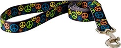 Neon Peace Signs Leash