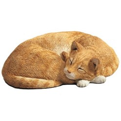 Orange Tabby Cat Life Size Sandicast Figurine