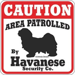 Havanese Caution Sign, a Fun Dog Warning Sign