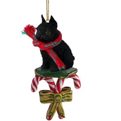 Candy Cane Brussels Griffon Christmas Ornament