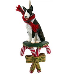 Candy Cane Bull Terrier Christmas Ornament- click for more breed colors