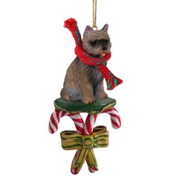 Candy Cane Cairn Terrier Christmas Ornament