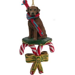 Candy Cane Chesapeake Bay Retriever Christmas Ornament