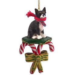Candy Cane Chihuahua Christmas Ornament- click for more breed colors