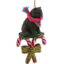 Candy Cane Chow Chow Christmas Ornament