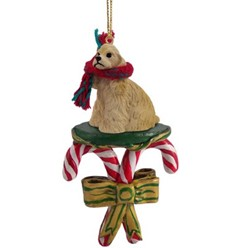 Candy Cane Cocker Spaniel Christmas Ornament- click for more breed colors