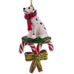 Candy Cane Dalmatian Christmas Ornament