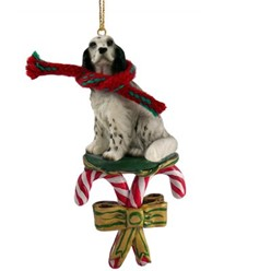 Candy Cane English Setter Christmas Ornament