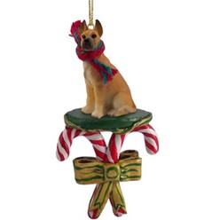 Candy Cane Great Dane Christmas Ornament- click for more breed options