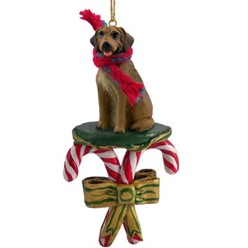 Candy Cane Rhodesian Ridgeback Christmas Ornament