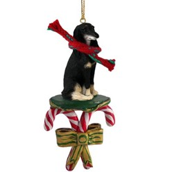 Candy Cane Saluki Christmas Ornament