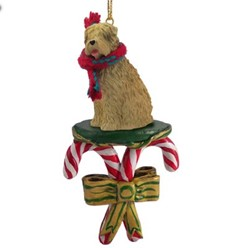 Candy Cane Soft Coated Wheaten Christmas Ornament