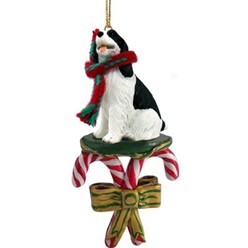 Candy Cane Springer Spaniel Christmas Ornament- click for more breed colors