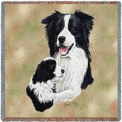 Border Collie and Pup Throw