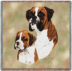 Boxer and Pup Throw