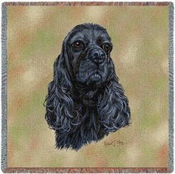 Cocker Spaniel Black Throw