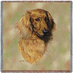 Dachshund Longhaired Throw