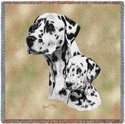 Dalmatian and Pup Throw