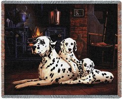 Dalmatians Throw Blanket, Made in the USA