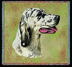 English Setter Blue Belton Throw