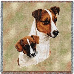 Jack Russell and Pup Throw