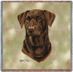 Labrador Retriever Chocolate II Throw