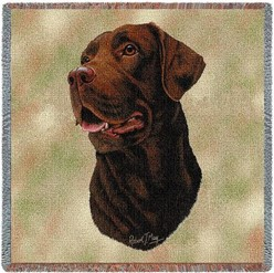 Labrador Retriever Chocolate Throw