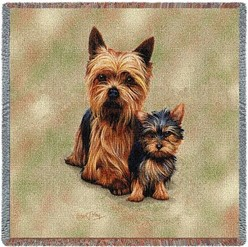 Yorkie and Pup Throw