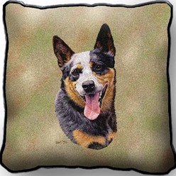 Australian Cattle Dog Pillow, Made in the USA