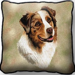 Australian Shepherd Pillow, Made in the USA